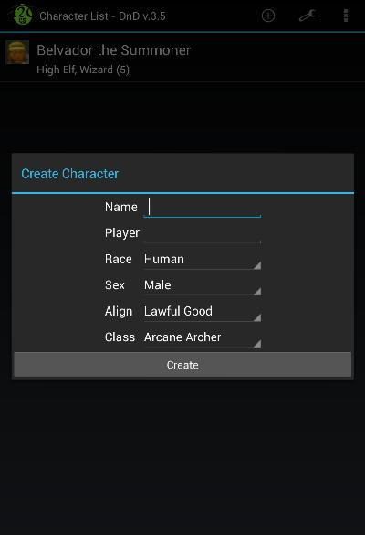 Create Character